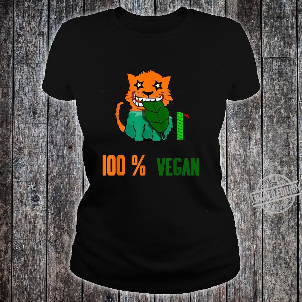 100 % Vegan Vegetarier Shirt ladies tee
