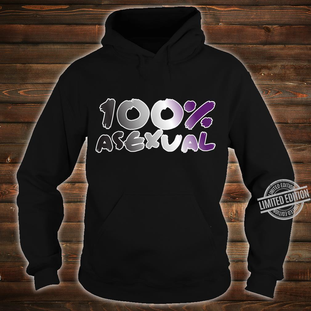 100% Asexual Ace Pride Flag Proud LGBTQ Cool LGBT Ally Shirt hoodie