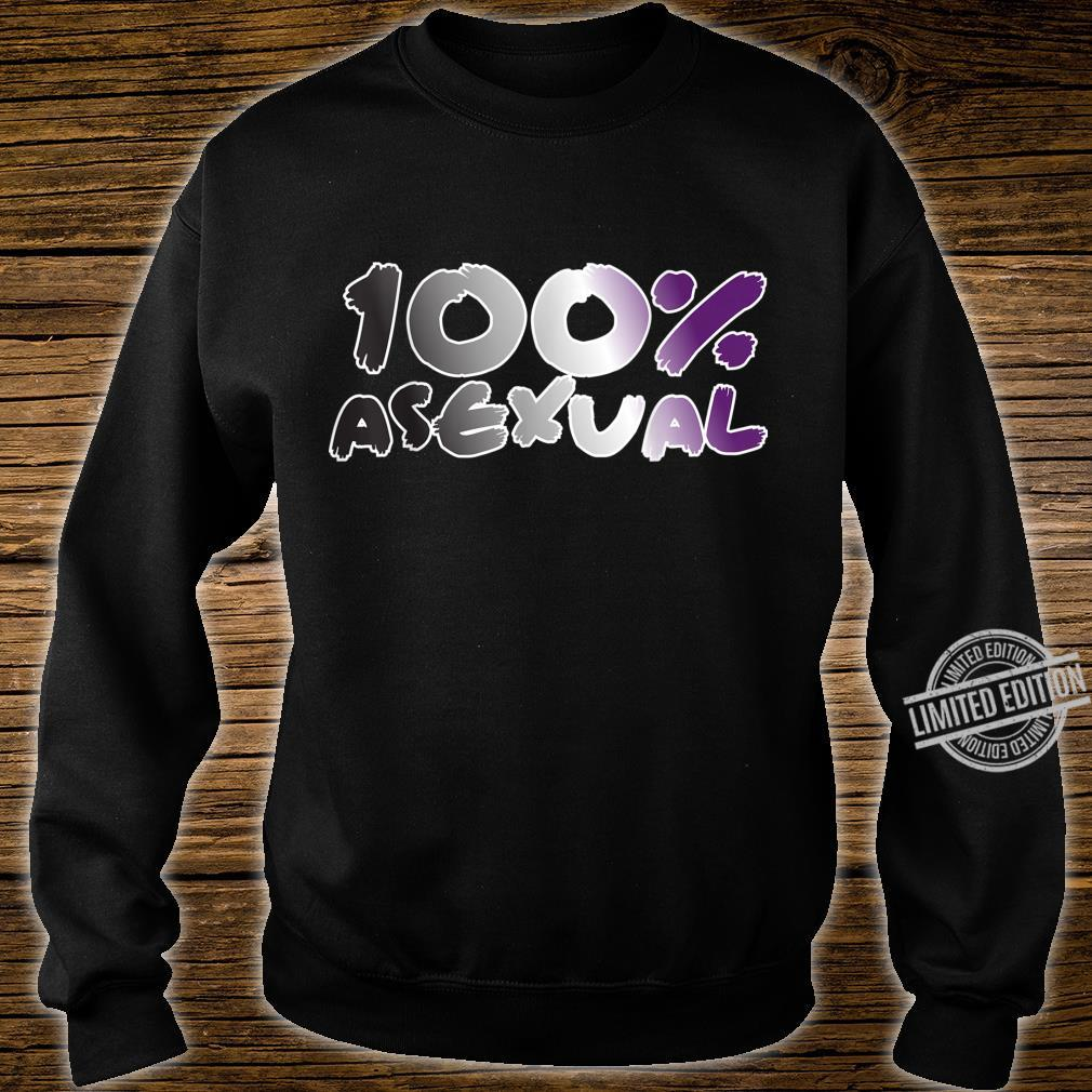 100% Asexual Ace Pride Flag Proud LGBTQ Cool LGBT Ally Shirt sweater