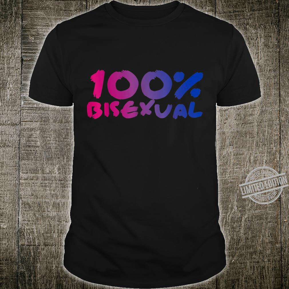 100% Bisexual Pride Flag Proud LGBTQ Cool LGBT Ally Shirt