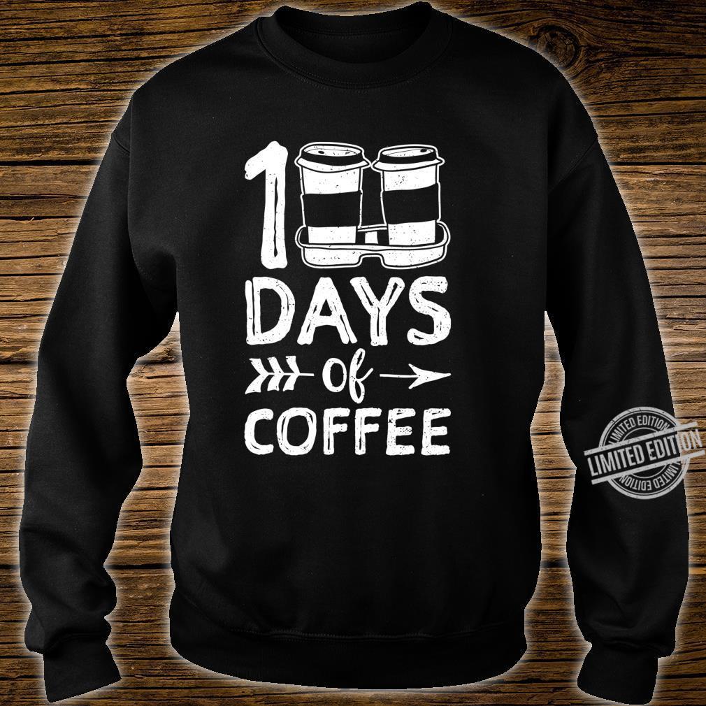 100 Days Of Coffee School Coffee Shirt sweater