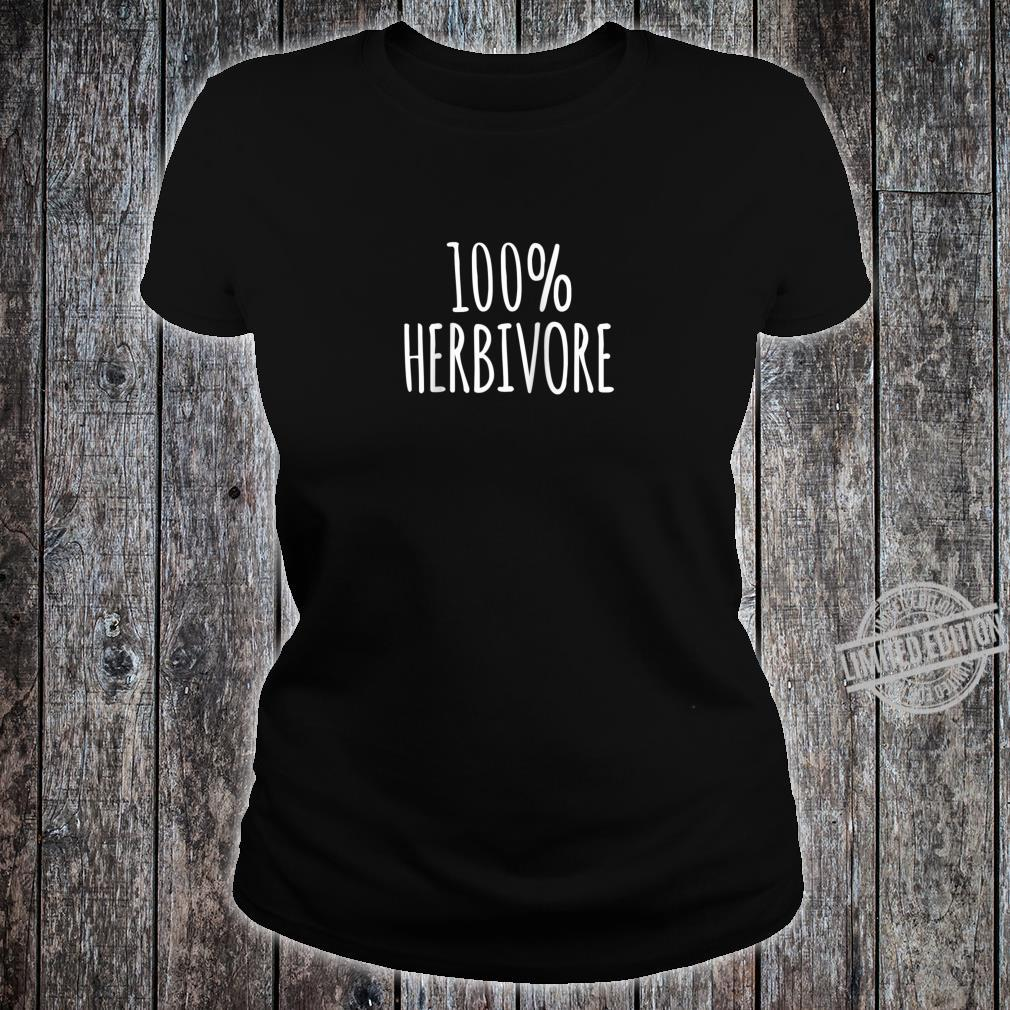 100% Herbivore Design Shirt ladies tee