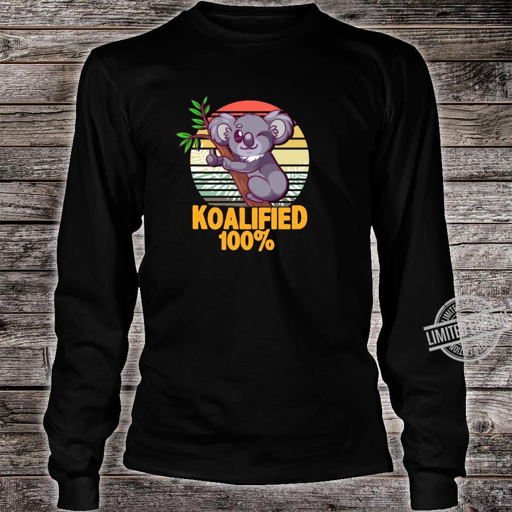 100% Koalafied Koala Shirt long sleeved