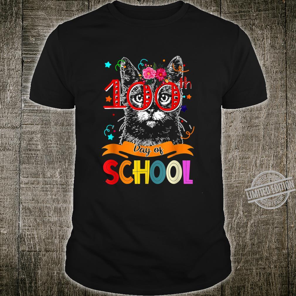 100th Day of School Black Cat Teacher Student Shirt