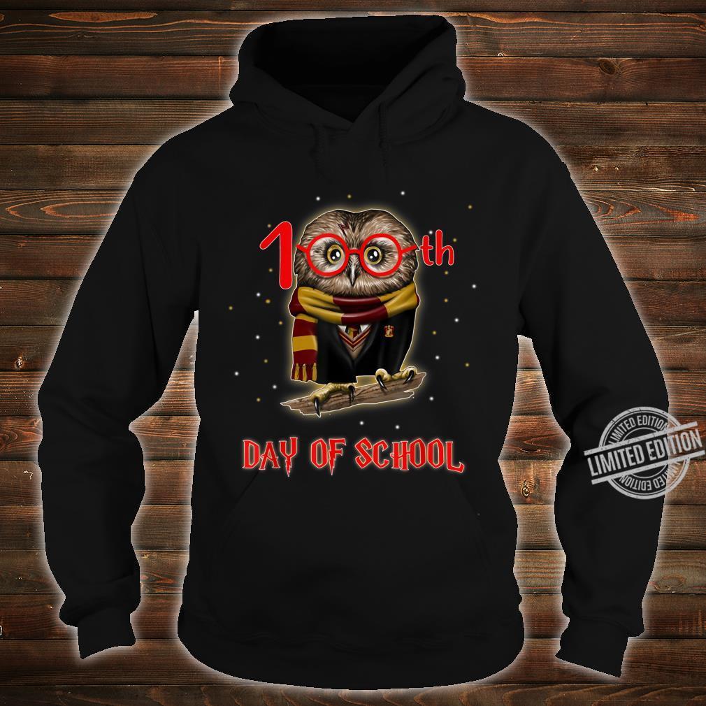100th Day of School Owl Shirt Teacher Student Shirt hoodie