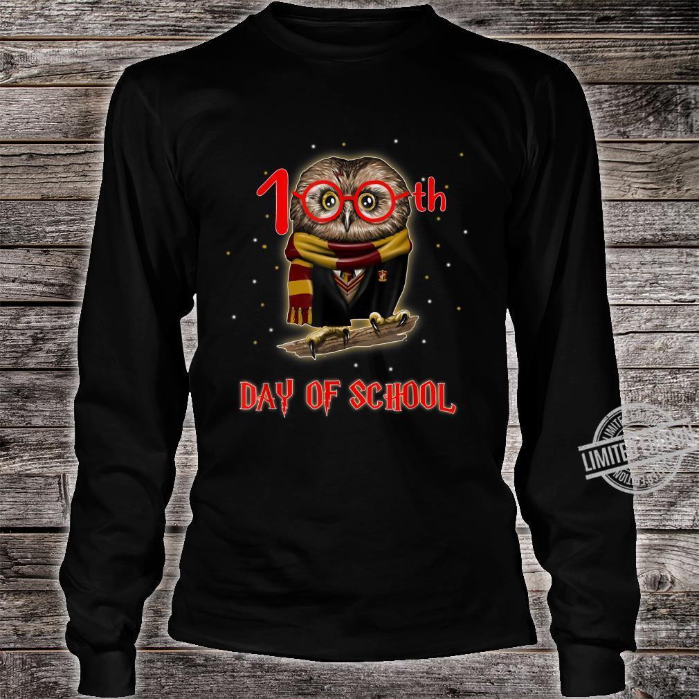 100th Day of School Owl Shirt Teacher Student Shirt long sleeved