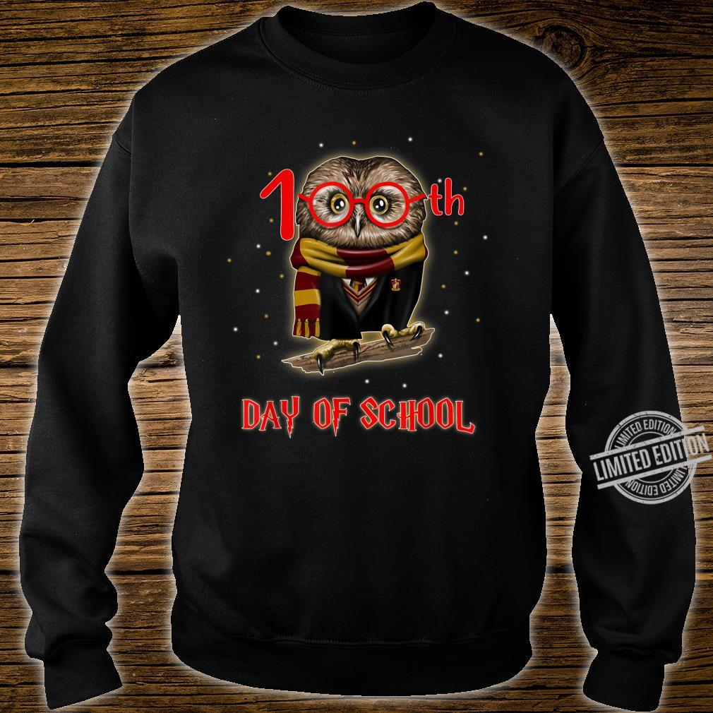 100th Day of School Owl Shirt Teacher Student Shirt sweater