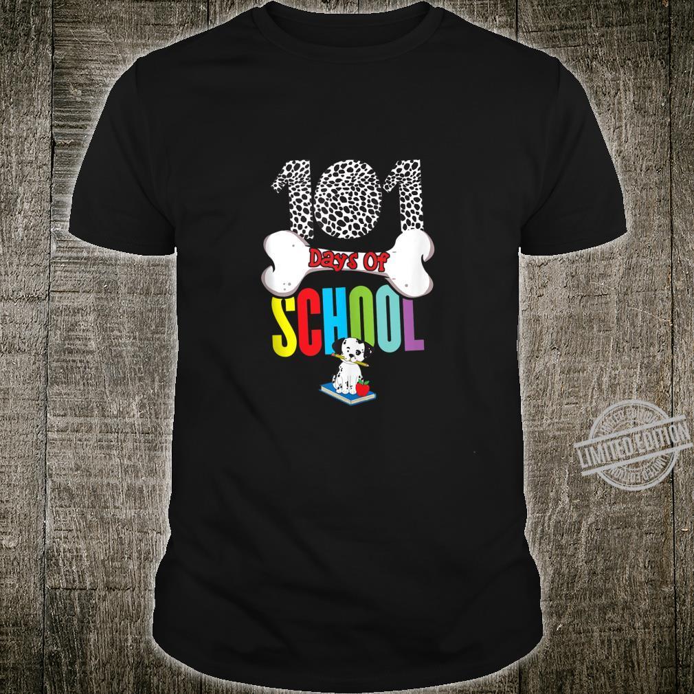 101 Days of School Dalmatian Dog Teachers Shirt
