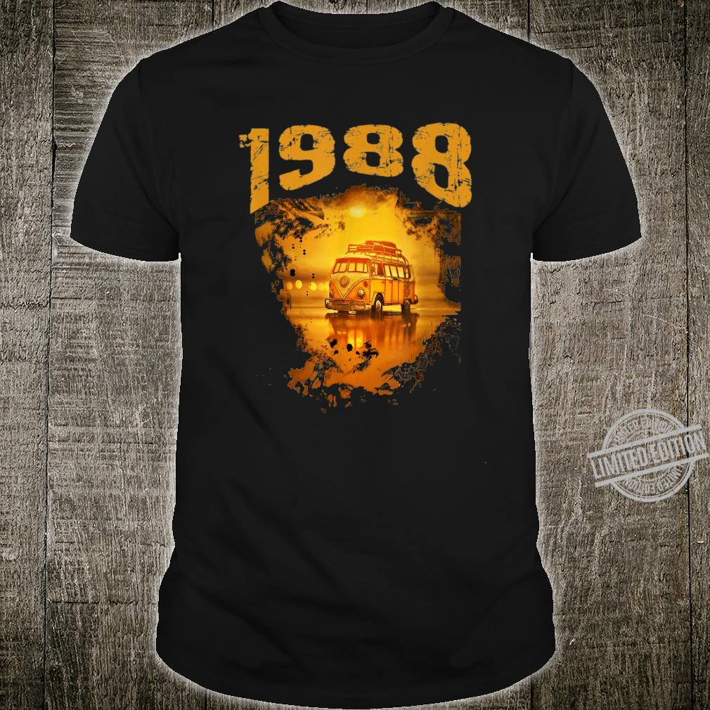 1988 Vintage Hippie Van Birthday Retro 80s Van Shirt
