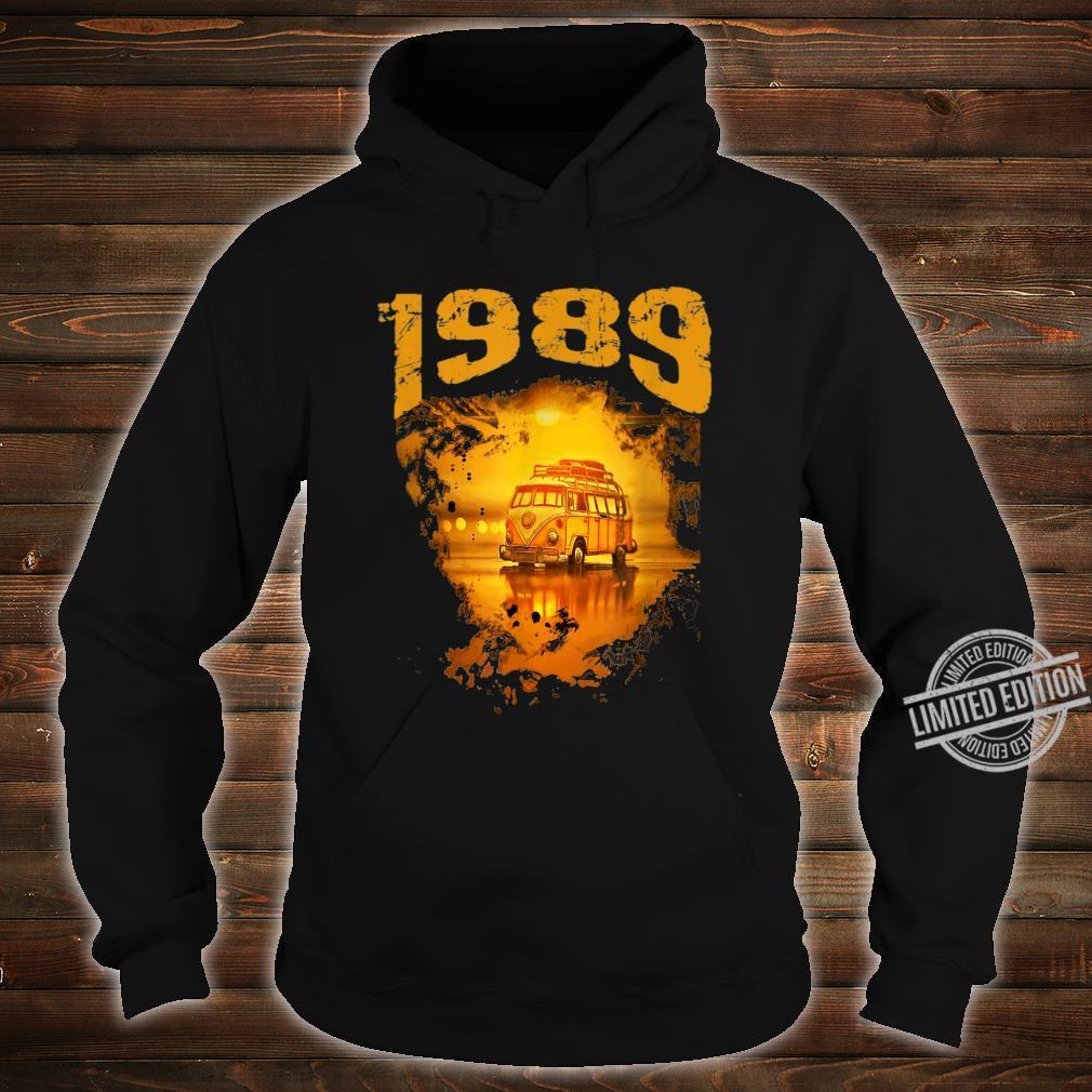 1989 Vintage Hippie Van Birthday Retro 80s Van Shirt hoodie