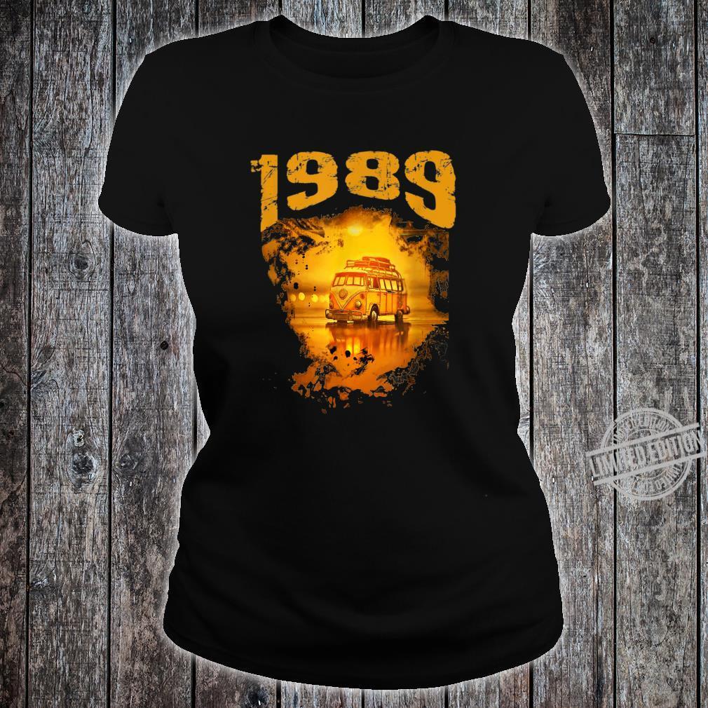 1989 Vintage Hippie Van Birthday Retro 80s Van Shirt ladies tee