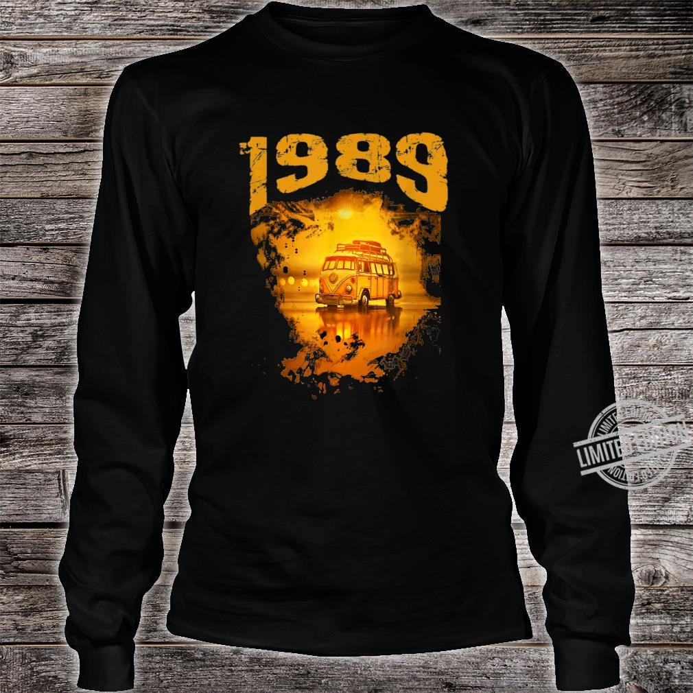 1989 Vintage Hippie Van Birthday Retro 80s Van Shirt long sleeved