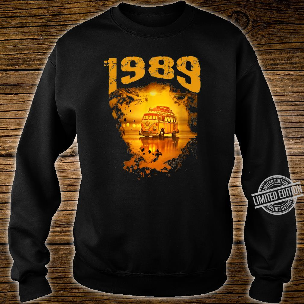 1989 Vintage Hippie Van Birthday Retro 80s Van Shirt sweater