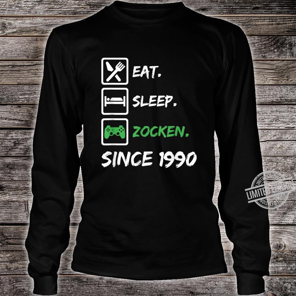 30. Geburtstag Mädchen Junge 30 Jahre 1990 Gamer Zocker Gabe Shirt long sleeved