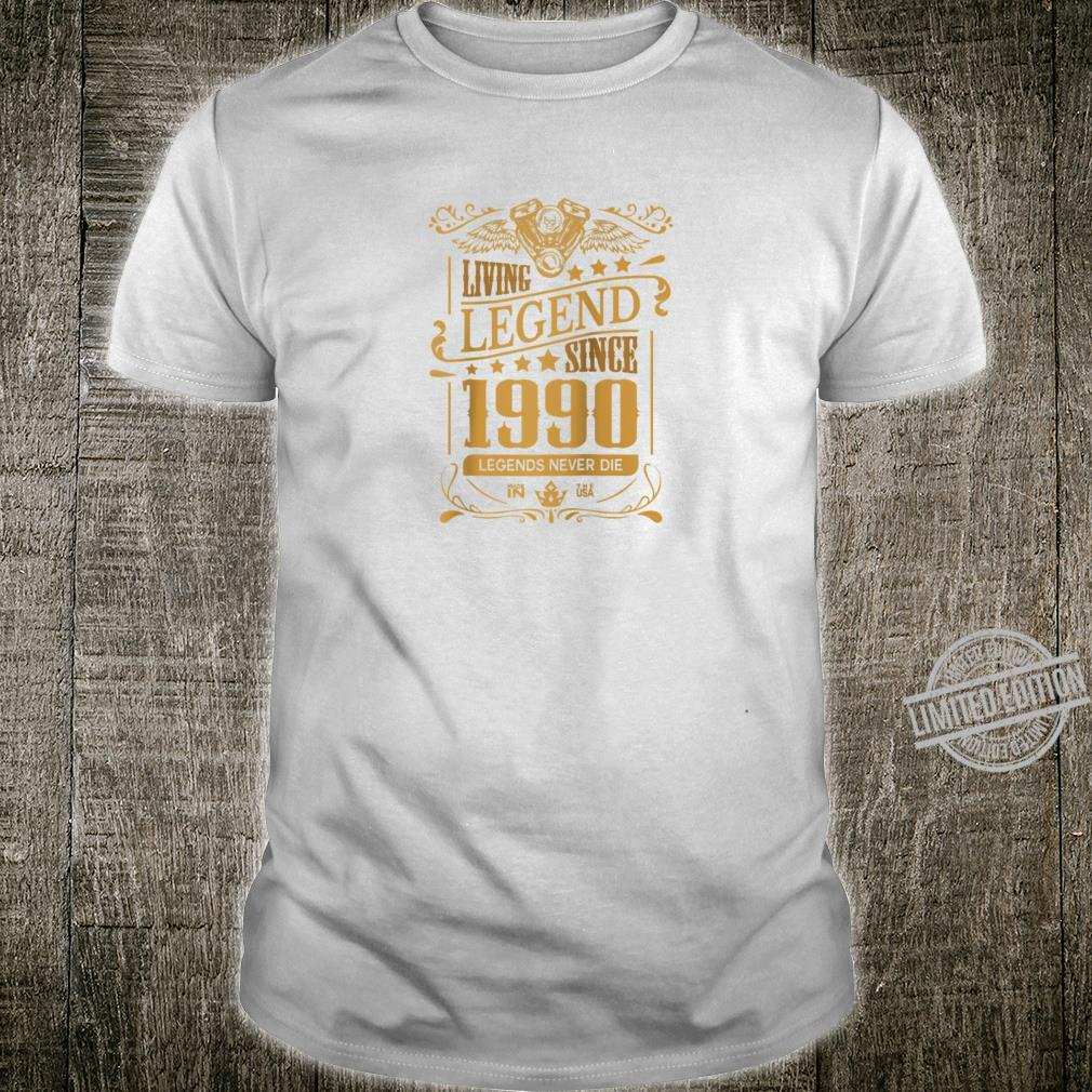 30th Birthday for Him or Her 30 Year Old 1990 Shirt
