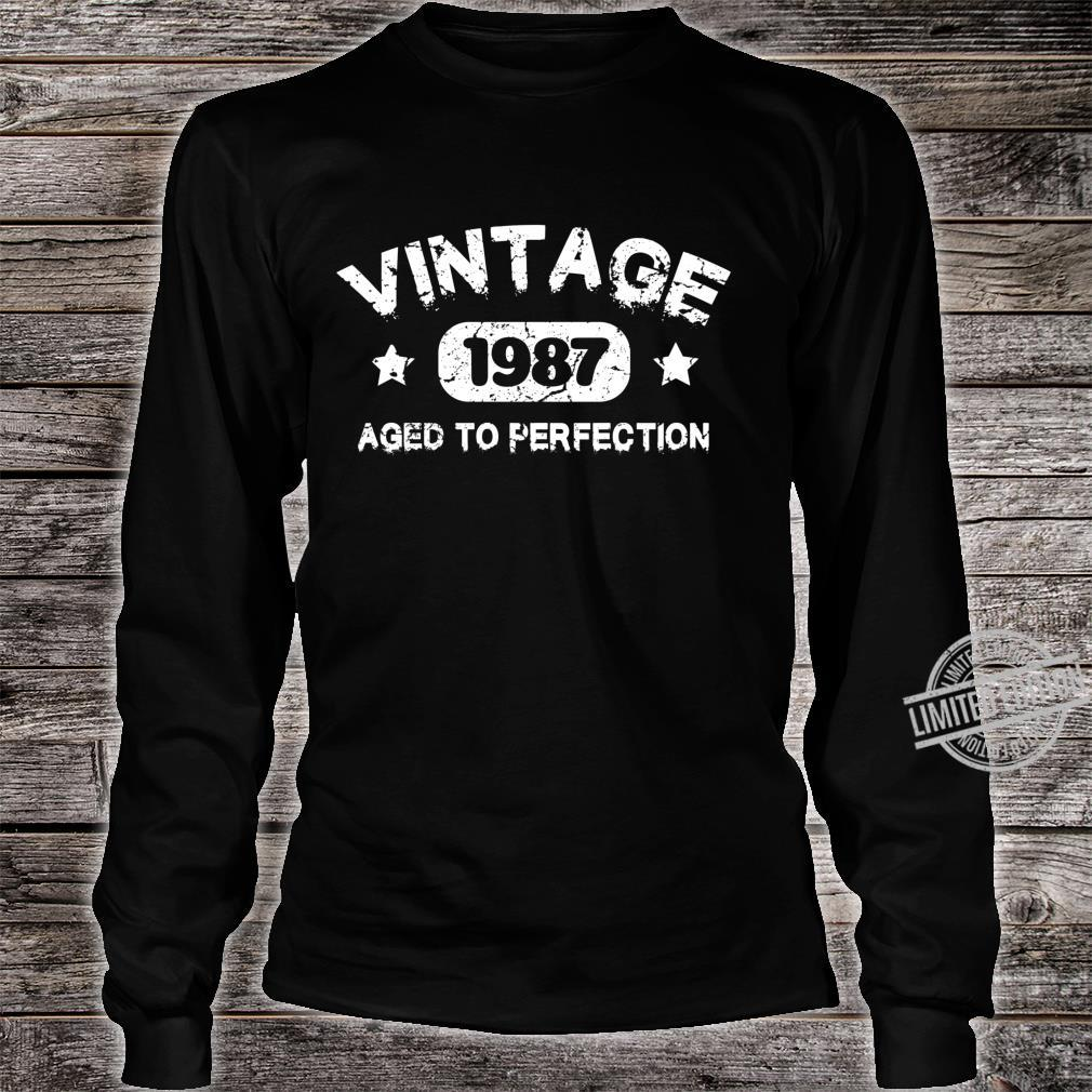 33 Years Old 1987 Vintage 33th Birthday Idea Langarmshirt Shirt long sleeved