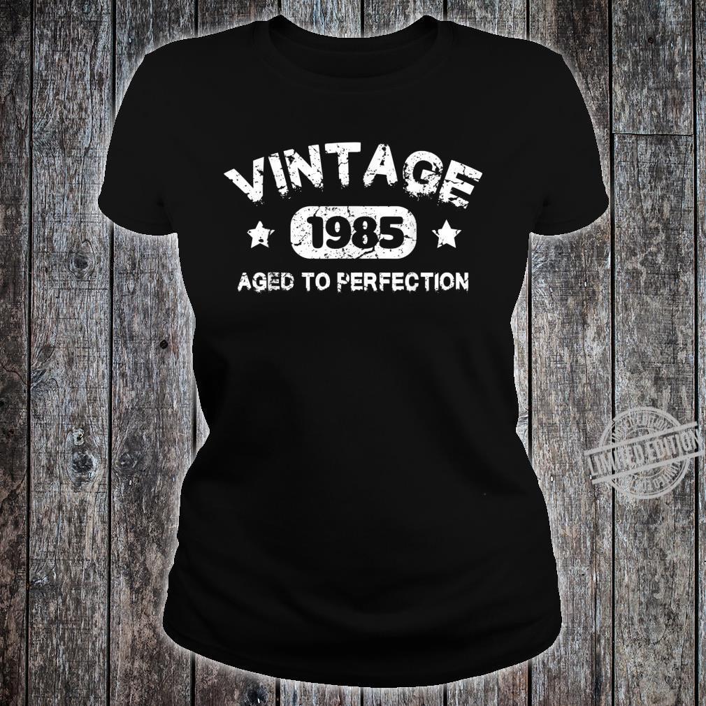 35 Years Old 1985 Vintage 35th Birthday Idea Shirt ladies tee