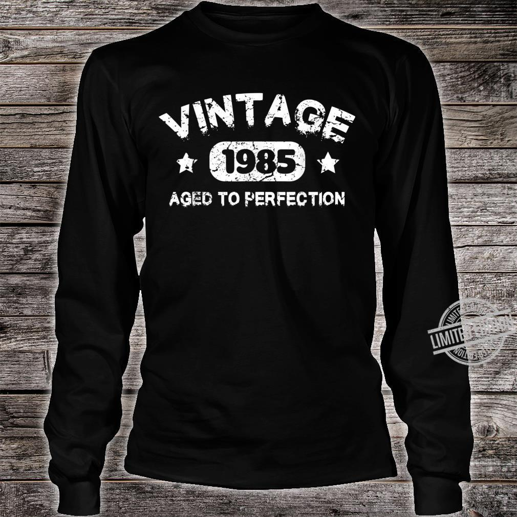 35 Years Old 1985 Vintage 35th Birthday Idea Shirt long sleeved