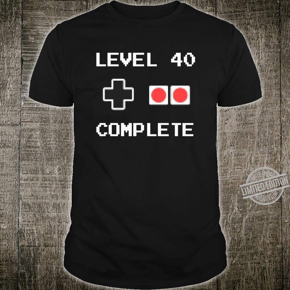 40 Jahre Geburtstag Männer Geschenk Pixel Retro Gaming Shirt