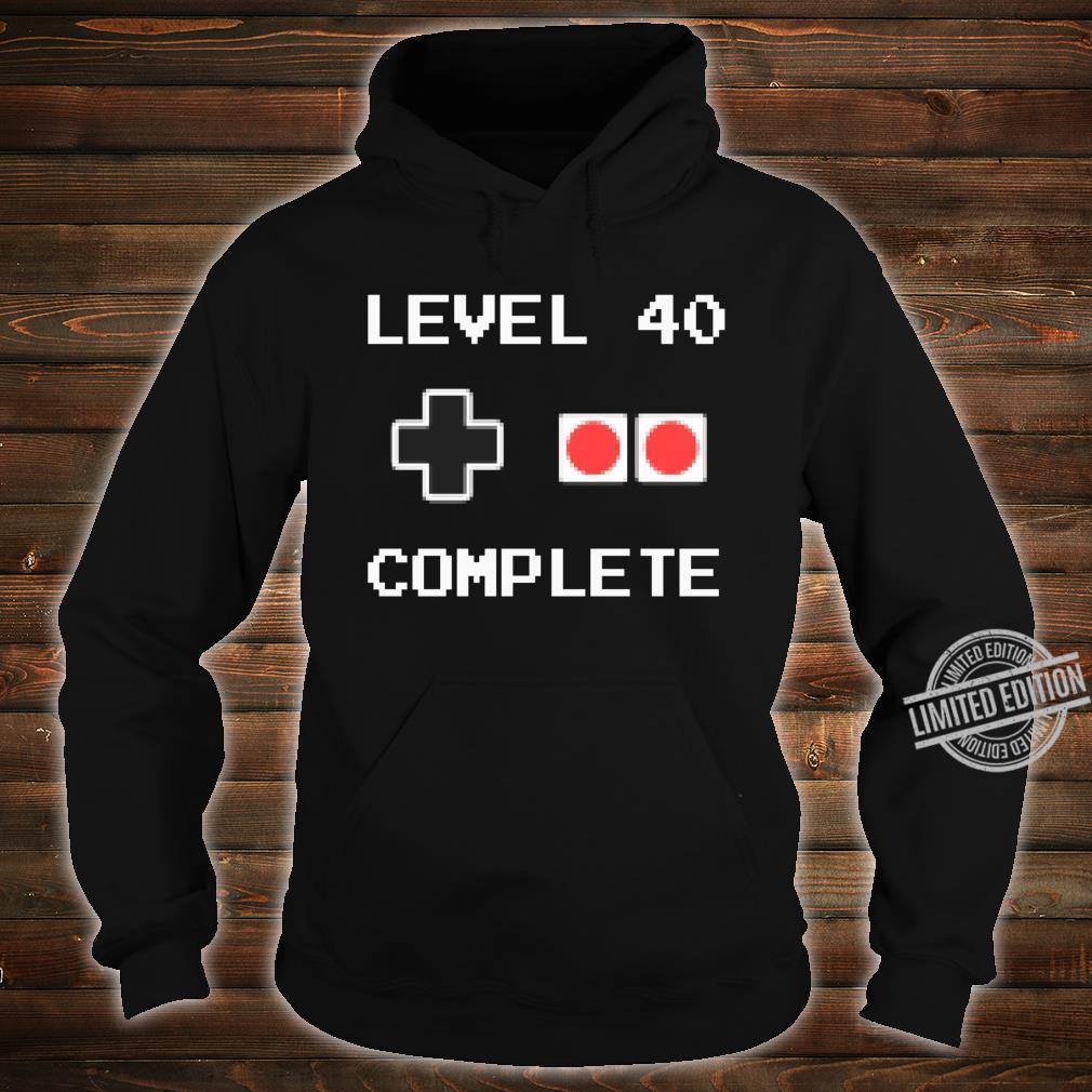 40 Jahre Geburtstag Männer Geschenk Pixel Retro Gaming Shirt hoodie