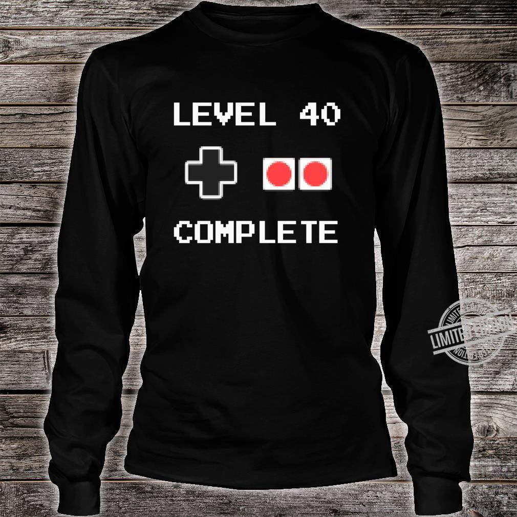 40 Jahre Geburtstag Männer Geschenk Pixel Retro Gaming Shirt long sleeved