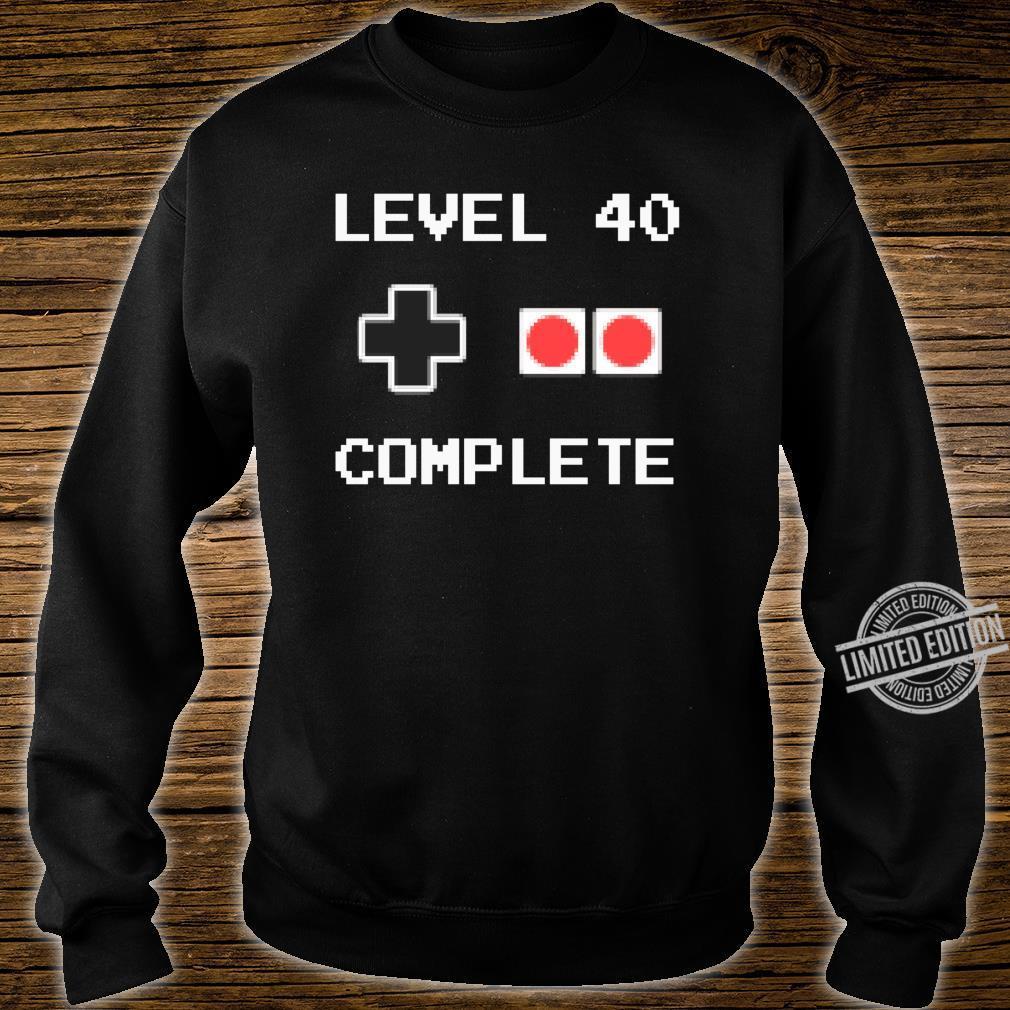 40 Jahre Geburtstag Männer Geschenk Pixel Retro Gaming Shirt sweater