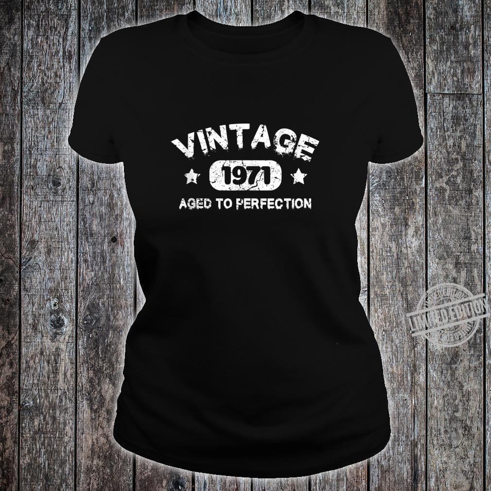 49 Years Old 1971 Vintage 49th Birthday Idea Shirt ladies tee