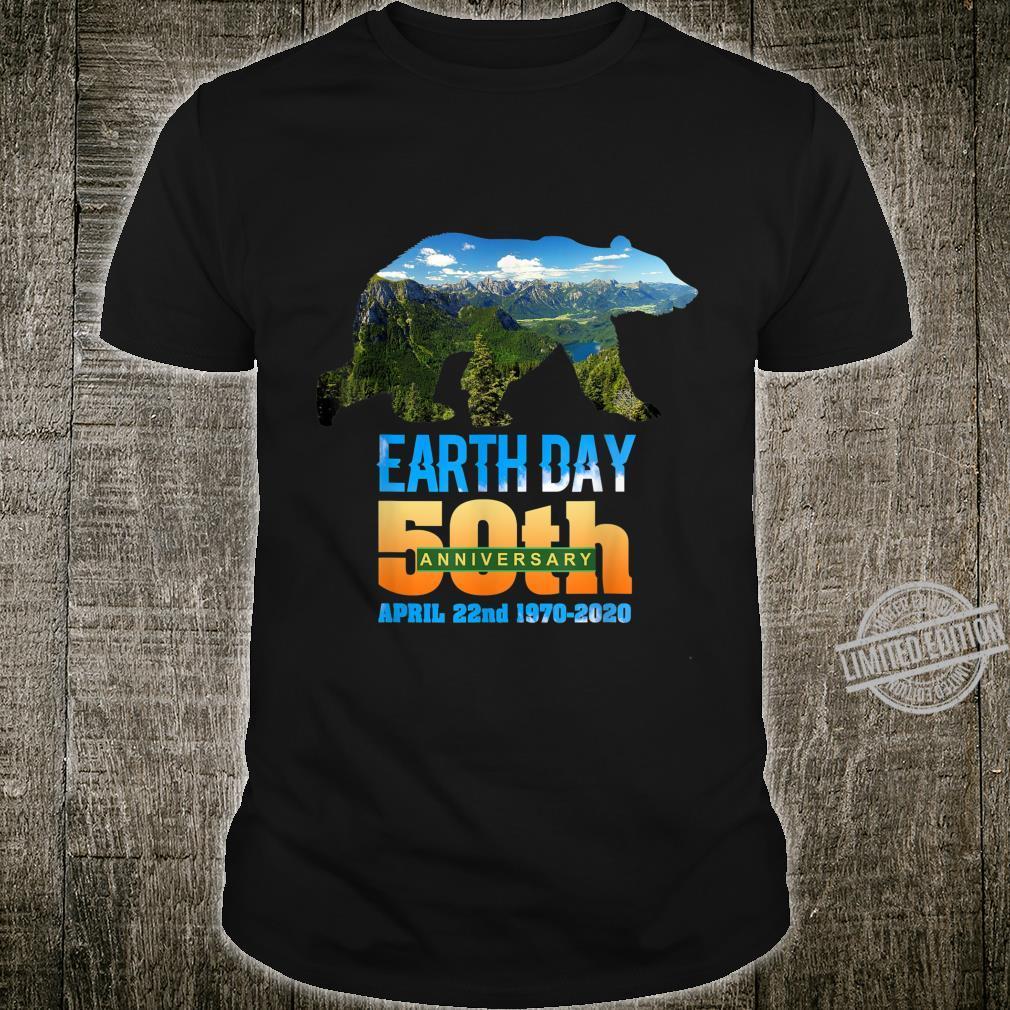 50th Anniversary Earth Day Bear Silhouette Shirt