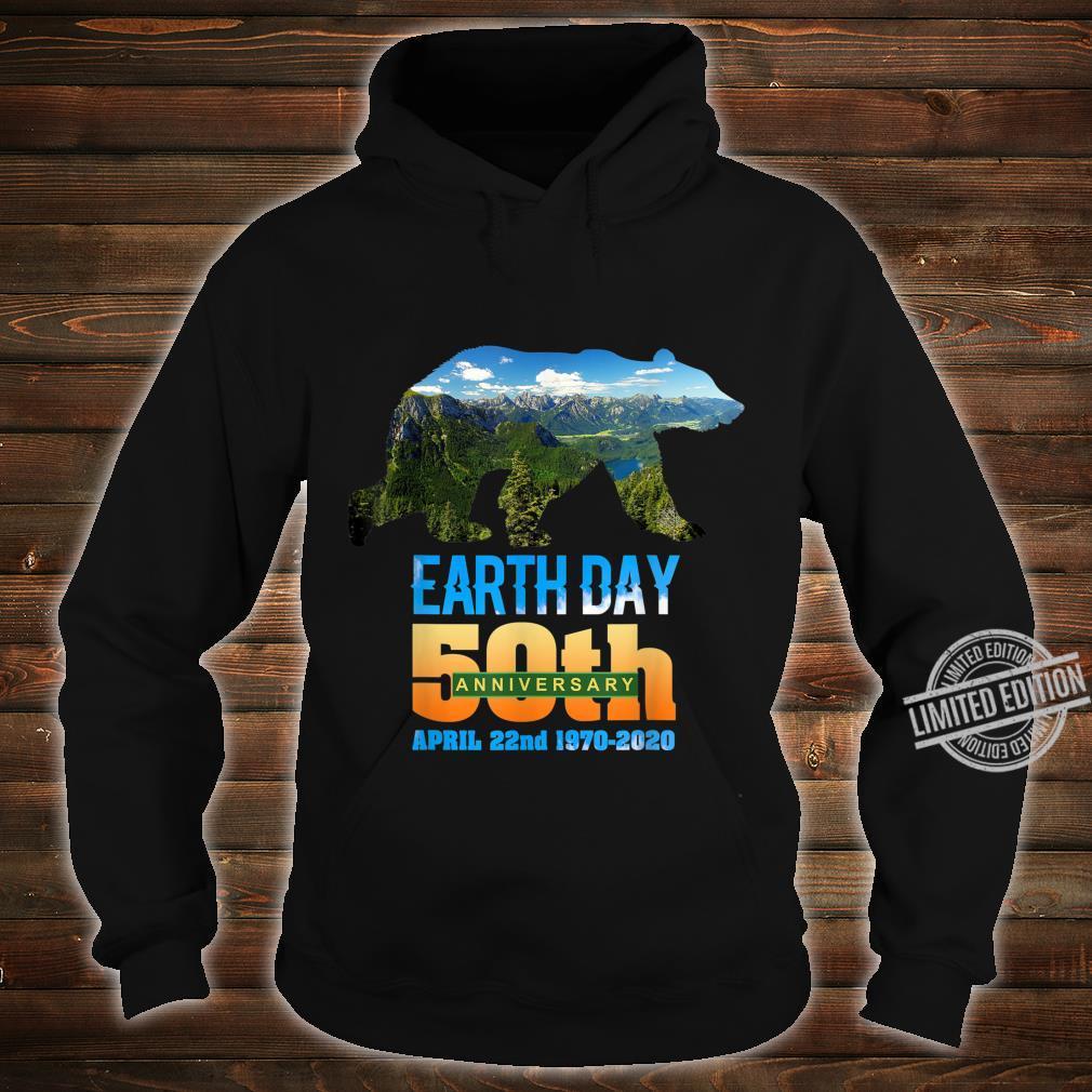 50th Anniversary Earth Day Bear Silhouette Shirt hoodie
