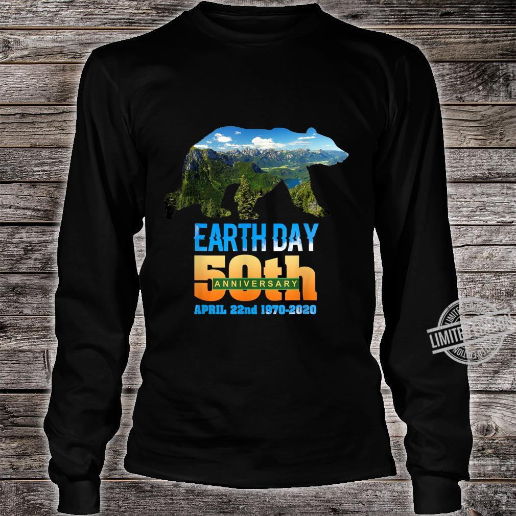 50th Anniversary Earth Day Bear Silhouette Shirt long sleeved