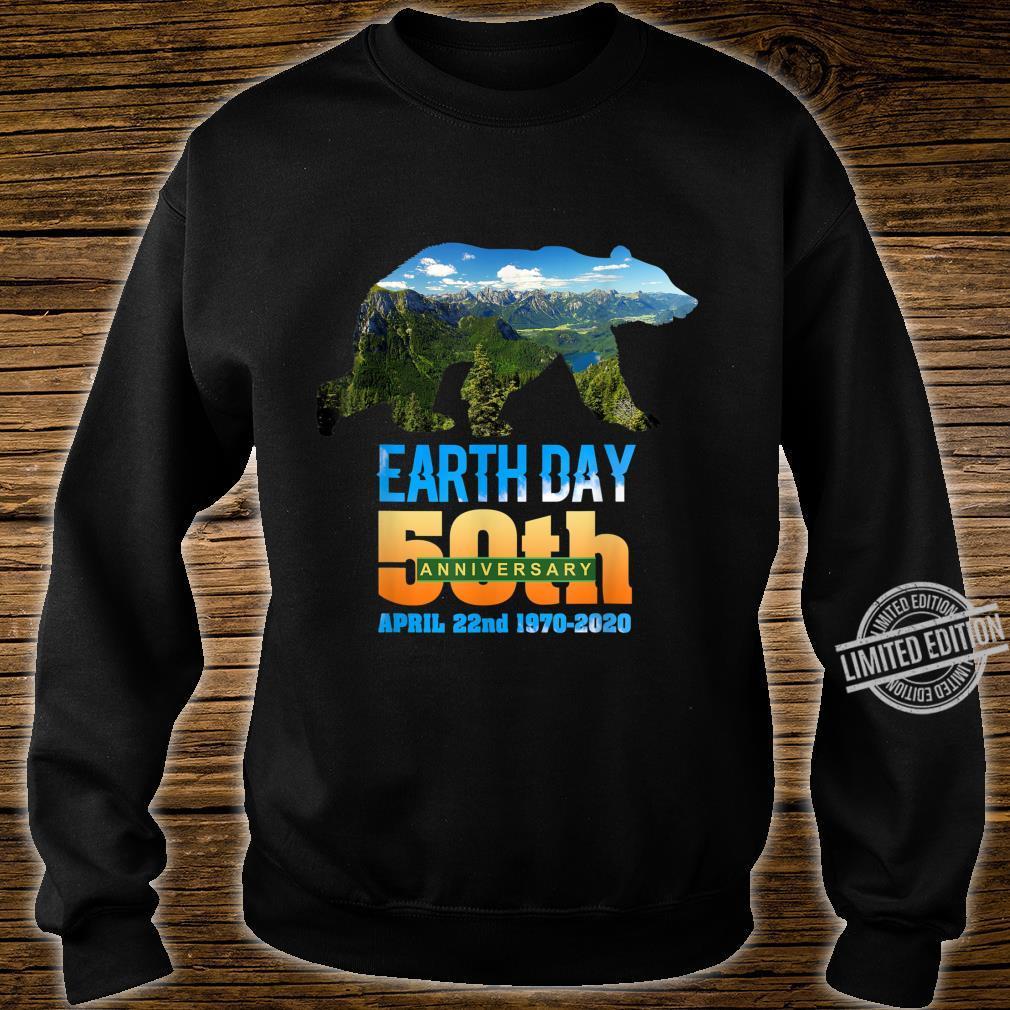50th Anniversary Earth Day Bear Silhouette Shirt sweater