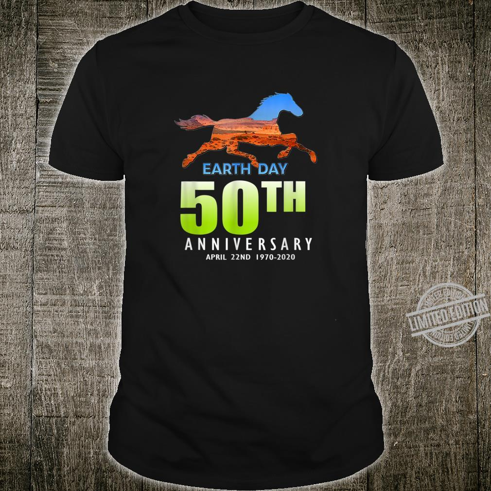 50th Anniversary Earth Day Horse Silhouette Shirt
