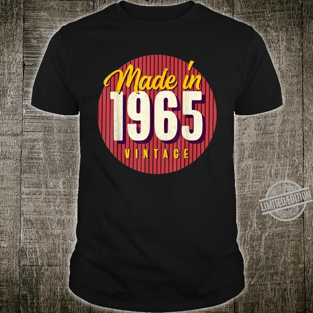 55. Geburtstag Geschenk Vintage Made in 1965 Shirt