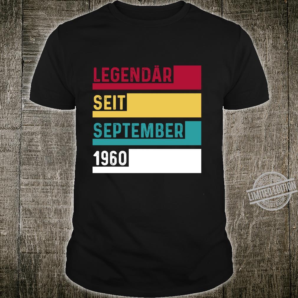 60 Geburtstag Legendär Seit September 1960 Geschenk Langarmshirt Shirt