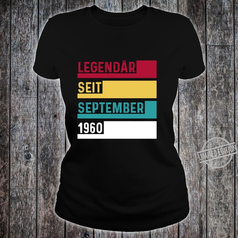 60 Geburtstag Legendär Seit September 1960 Geschenk Langarmshirt Shirt ladies tee