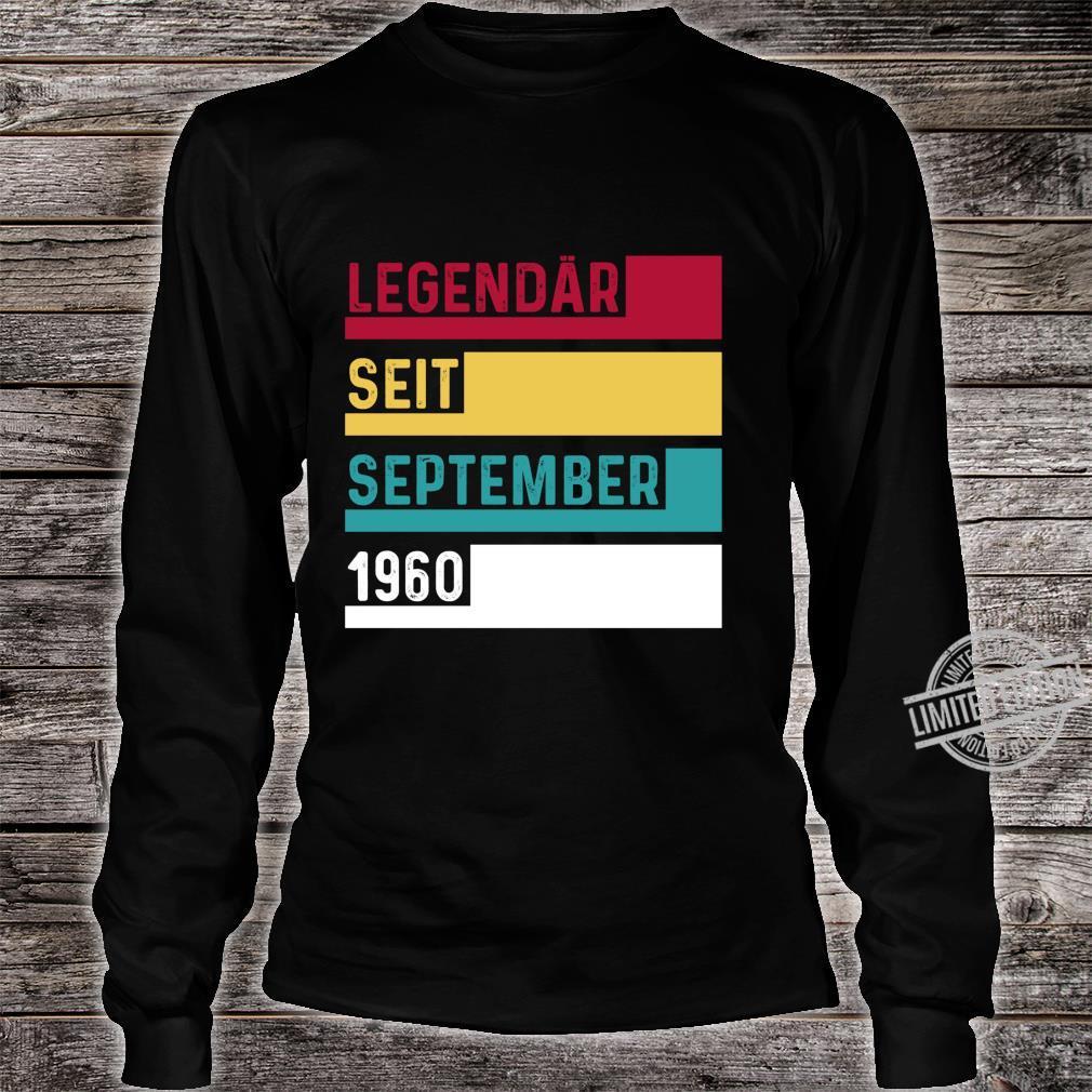 60 Geburtstag Legendär Seit September 1960 Geschenk Langarmshirt Shirt long sleeved
