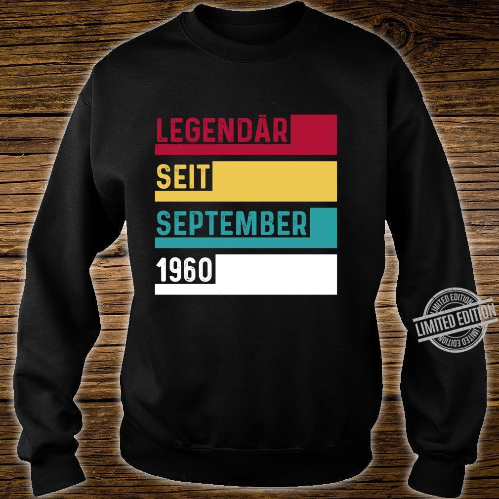 60 Geburtstag Legendär Seit September 1960 Geschenk Langarmshirt Shirt sweater