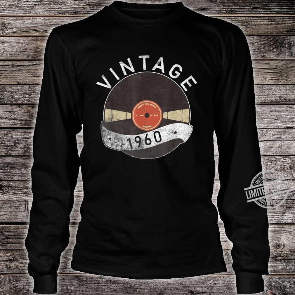 60th Vintage Vinyl 1960 Birthday Retro 60 Years Old Shirt long sleeved
