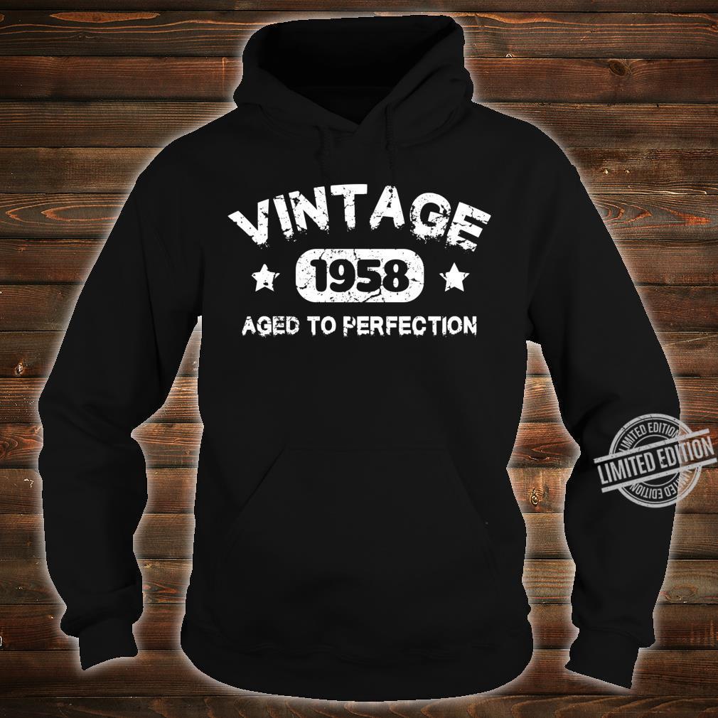 62 Years Old 1958 Vintage 62th Birthday Idea Shirt hoodie