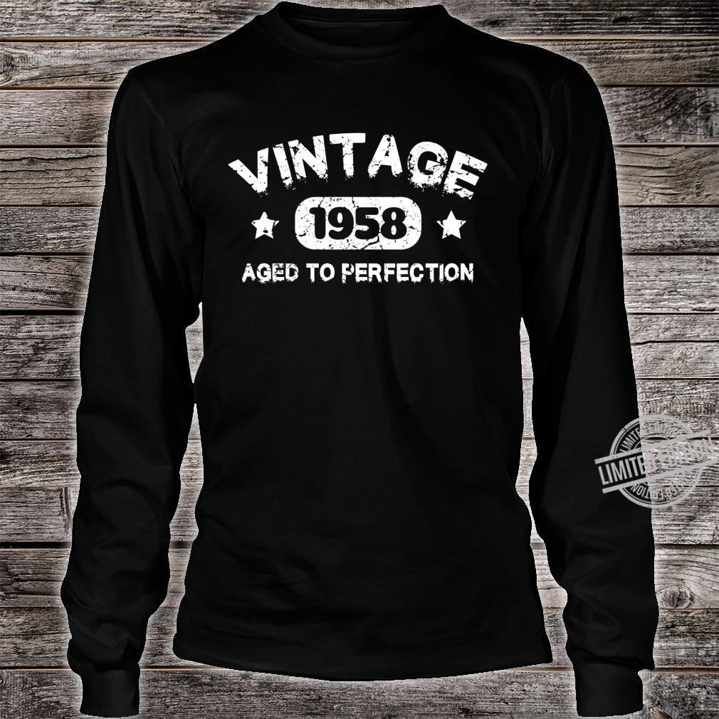 62 Years Old 1958 Vintage 62th Birthday Idea Shirt long sleeved