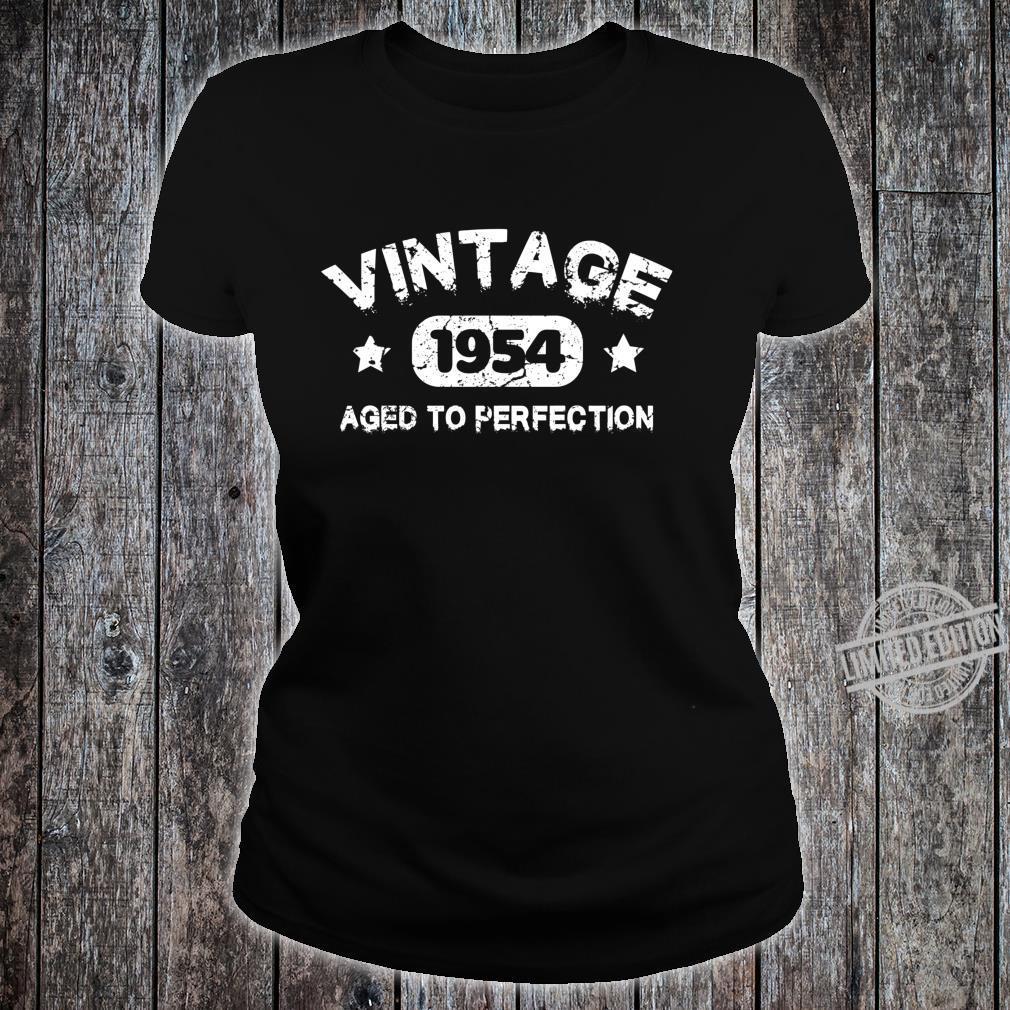 66 Years Old 1954 Vintage 66th Birthday Idea Langarmshirt Shirt ladies tee