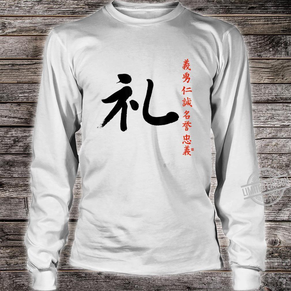 7 Tugenden Samurai Höflichkeit Rei Kanji Bushido Ehrenkodex Shirt long sleeved
