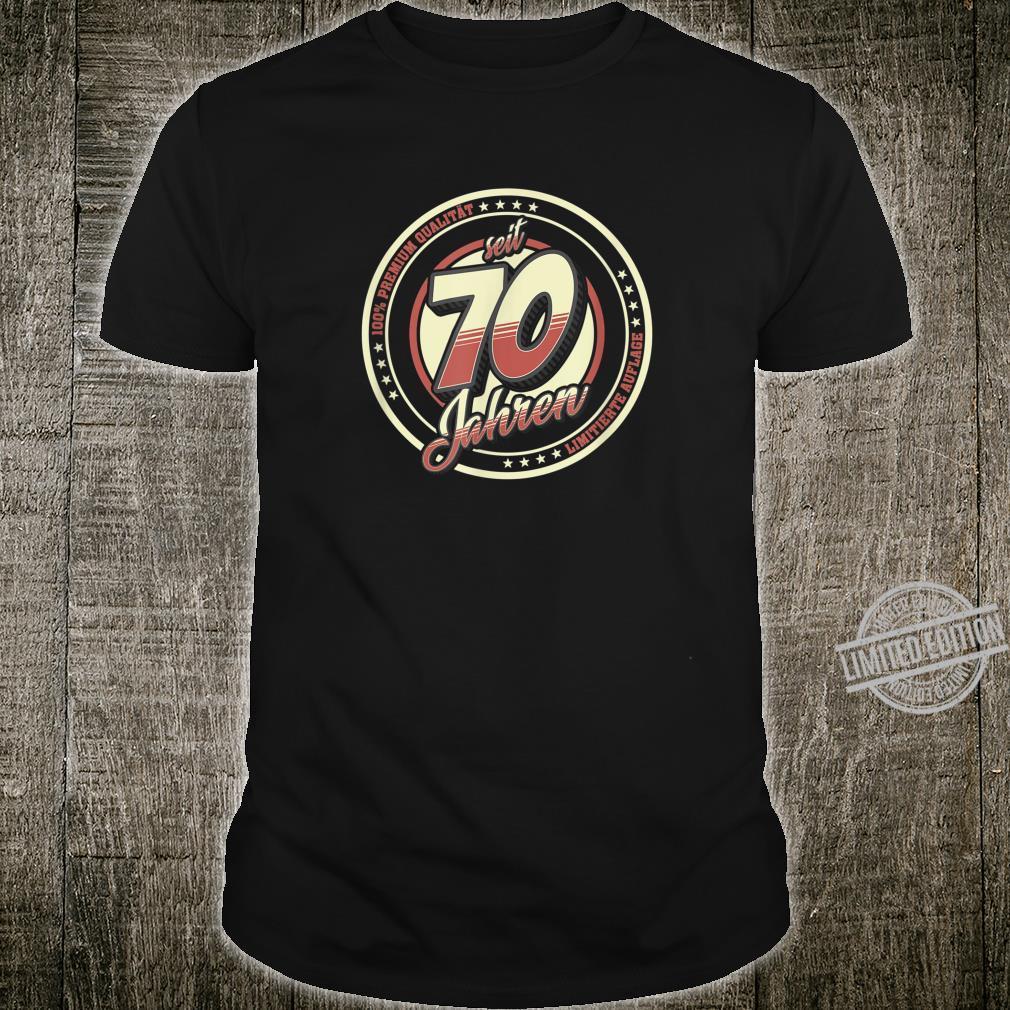 70. Geburtstag 70 Jahre Jahrgang 1950 Geschenk Shirt