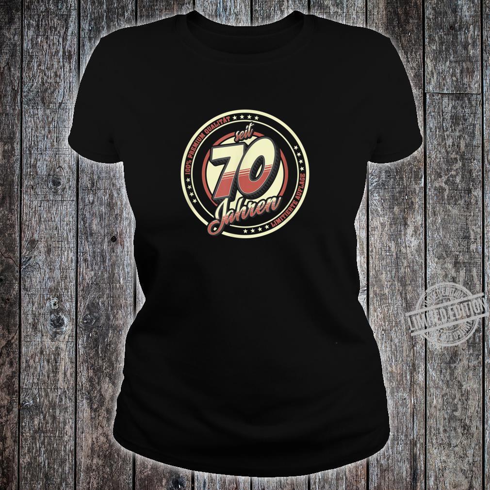 70. Geburtstag 70 Jahre Jahrgang 1950 Geschenk Shirt ladies tee