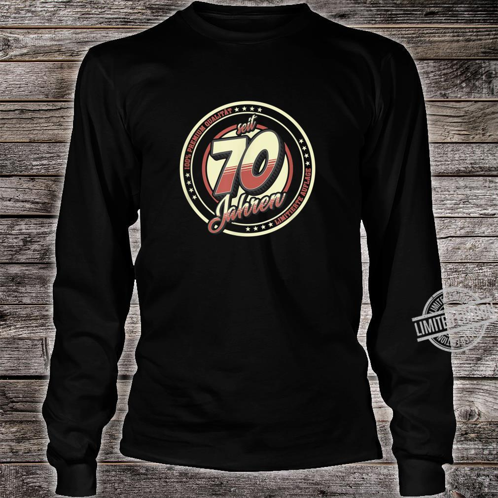70. Geburtstag 70 Jahre Jahrgang 1950 Geschenk Shirt long sleeved