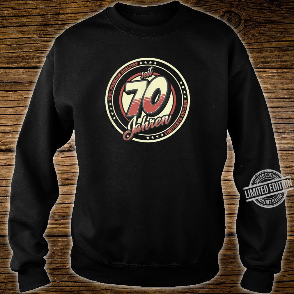 70. Geburtstag 70 Jahre Jahrgang 1950 Geschenk Shirt sweater