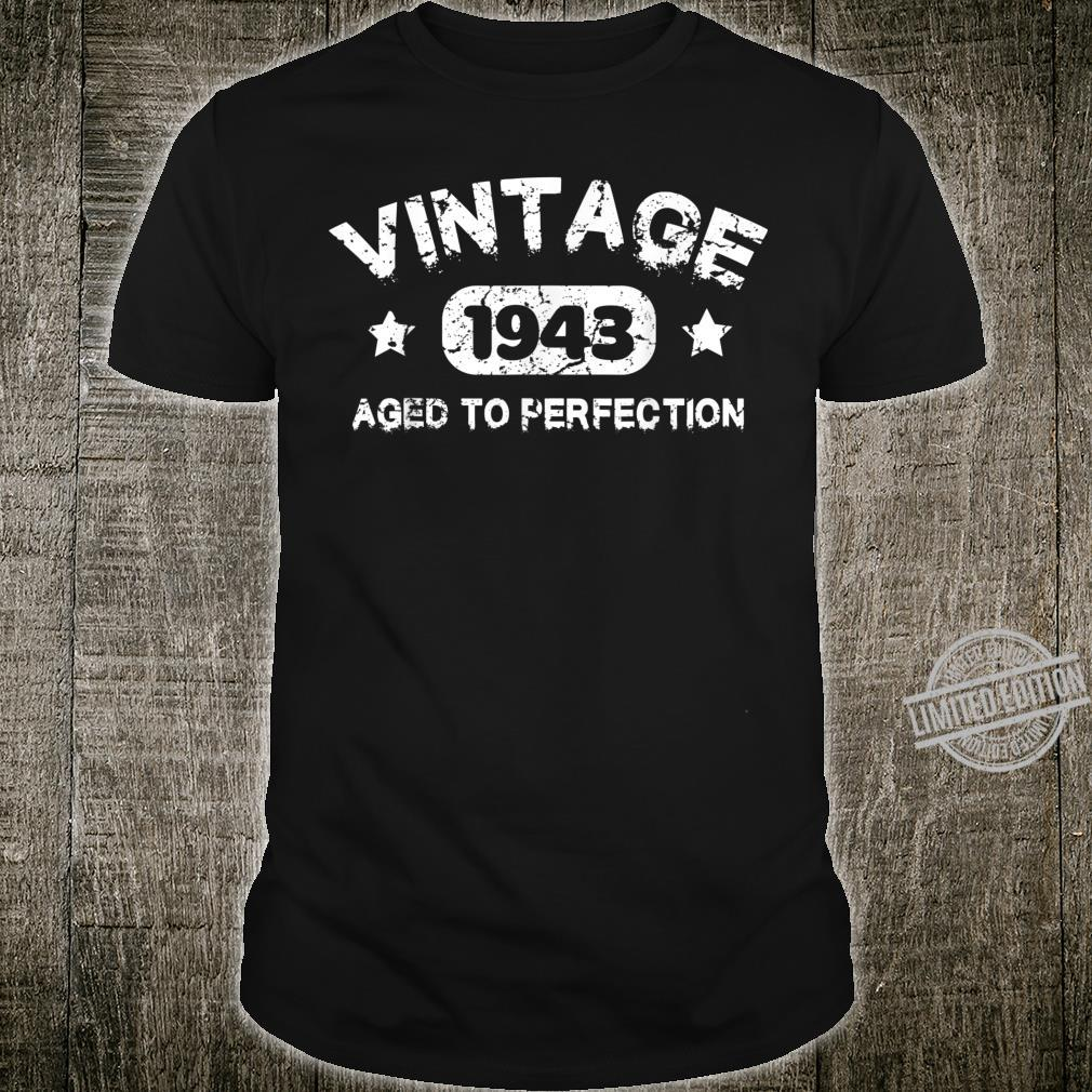 77 Years Old 1943 Vintage 77th Birthday Idea Shirt