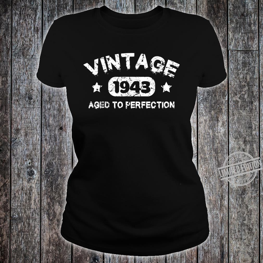 77 Years Old 1943 Vintage 77th Birthday Idea Shirt ladies tee