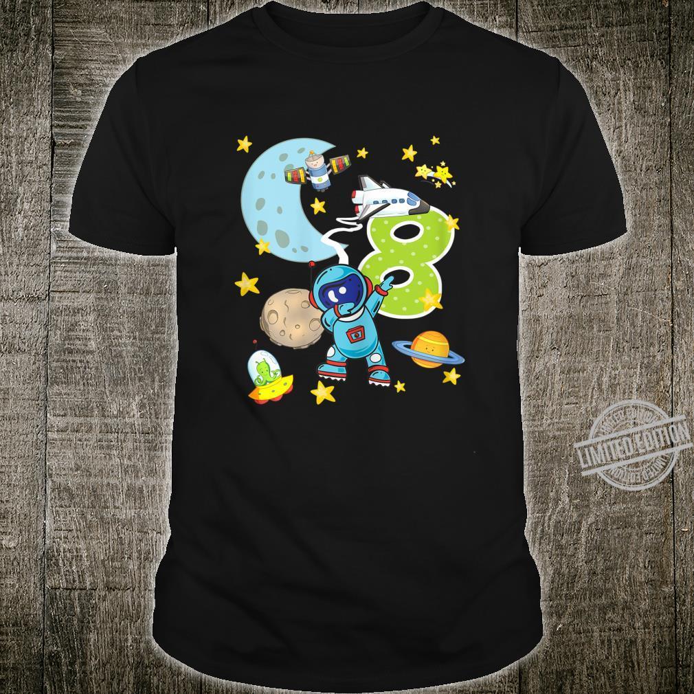 8. Geburtstag Astronaut 8 Jahre Weltraum Jungs Shirt