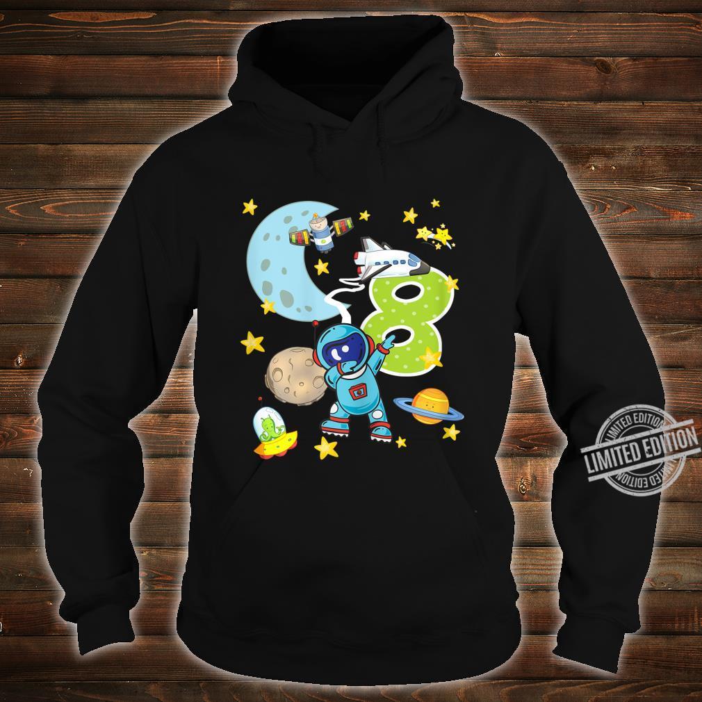 8. Geburtstag Astronaut 8 Jahre Weltraum Jungs Shirt hoodie